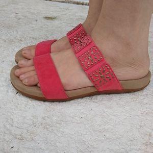 Aetrex Melissa Studded Slide Sandals